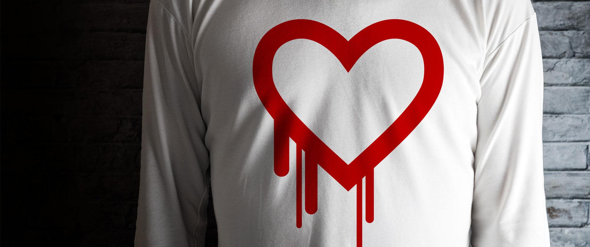 Genser med heartbleed-symbol