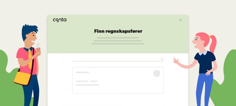 Finn Regnskapsfører-siden i Conta